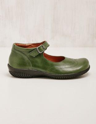 Deerberg Leder-Spangenschuhe Marana grün