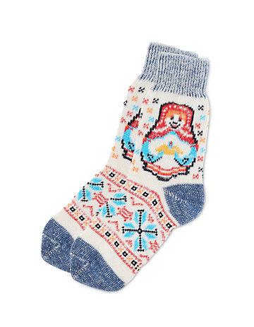 Deerberg Socken Sunja marine-bunt