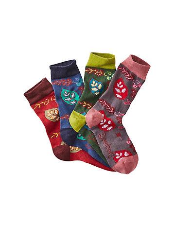 Deerberg 4er Pack Socken Alienor bunt