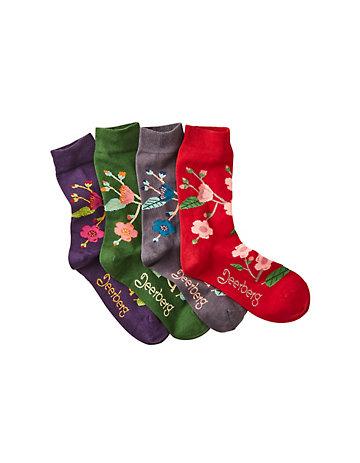 Deerberg 4er Pack Socken Berlinde bunt