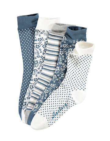 Deerberg 5er Socken Darleen blau