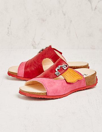 Think Pantoletten Ursel pink
