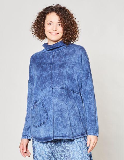 Oversized-Pullover Birtna, Blau