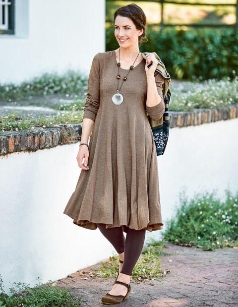 Image of Deerberg Baumwoll-Kleid Nadira, Grau