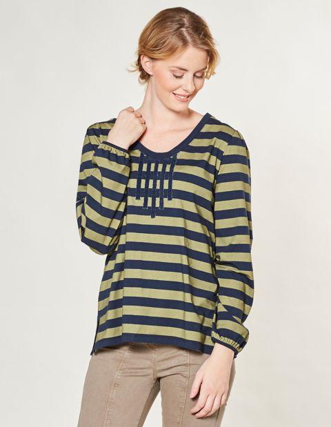 Jersey-Shirt Felina, Blau