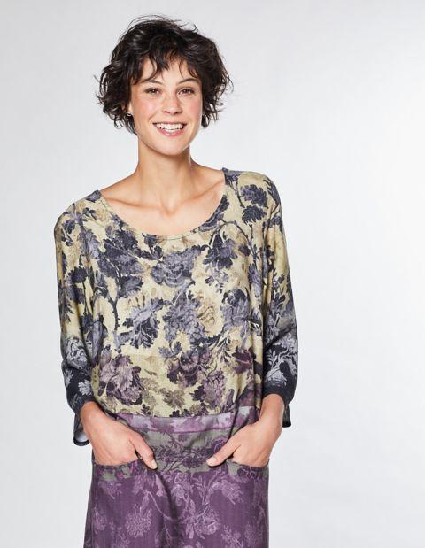 Image of Deerberg Druck-Kleid Carola, Lila