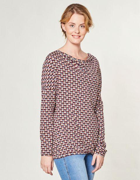 Jersey-Shirt Leika, Mehrfarbig