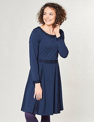 Baumwoll-Kleid Nadira von Deerberg in blau | Deerberg