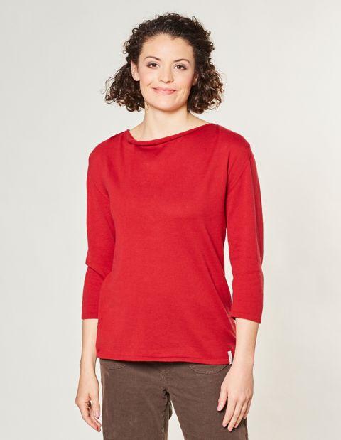 Image of Deerberg Baumwoll-Pullover Benica, Rot