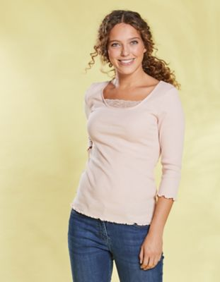 Deerberg Jersey-Shirt Gina rosé