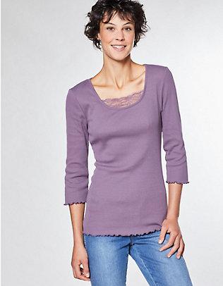 Deerberg Jersey-Shirt, 3/4-Arm Gina grauviolett