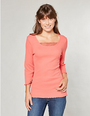 Deerberg Jersey-Shirt, 3/4-Arm Gina koralle
