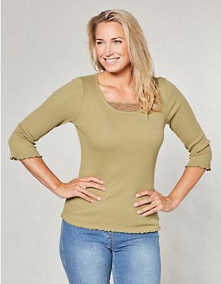 Deerberg Jersey-Shirt, 3/4-Arm Gina schilfgrün