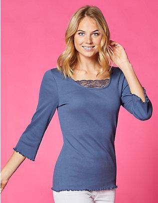 Deerberg Jersey-Shirt, 3/4-Arm Gina indigo