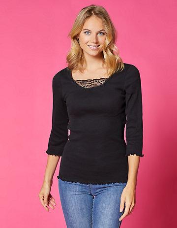 Deerberg Jersey-Shirt Gina schwarz