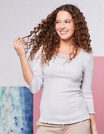 Deerberg Jersey-Shirt Gina seidengrau