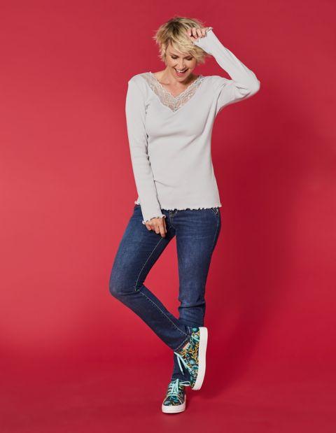 Stretch-Jeans Ember, blau