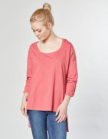 Laura Deerberg Jersey-Longshirt Neeta nelkenrot