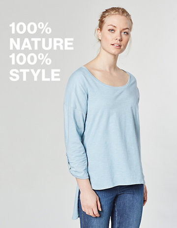 Laura Deerberg Jersey-Longshirt Neeta sterlingblau