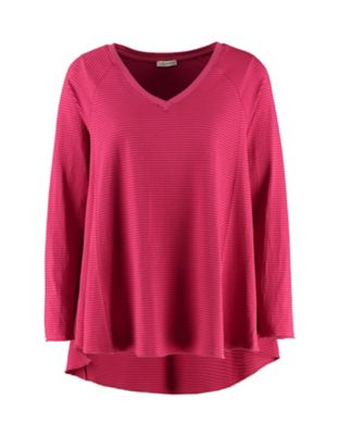 Deerberg Jersey-Shirt Danika schwertlilie-geringelt