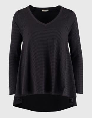 Deerberg Jersey-Shirt Danika schwarz-geringelt