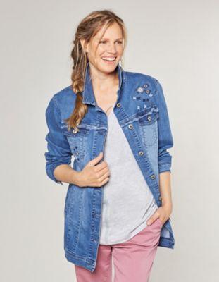 Deerberg Stretch-Jeans-Longjacke Inola blue-used