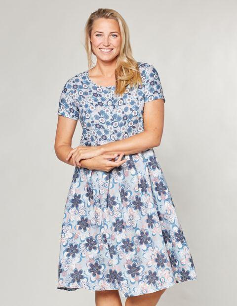 Image of Deerberg Druck-Kleid Kristal, Blau