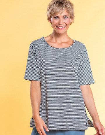 Deerberg Jersey-Shirt Deana marine-gestreift