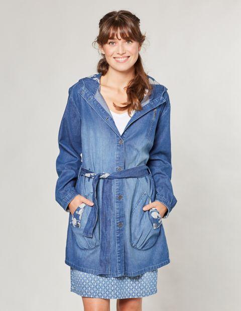 Jeans-Longjacke Lorina, Blau