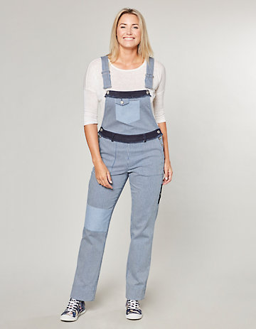 Deerberg Stretch-Jeans-Latzhose Batja indigo-gestreift