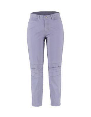 Deerberg Slim-Fit-Hose Tiba violablau-washed