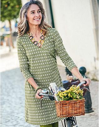 Deerberg Jersey-Kleid Geelke wiese-bedruckt