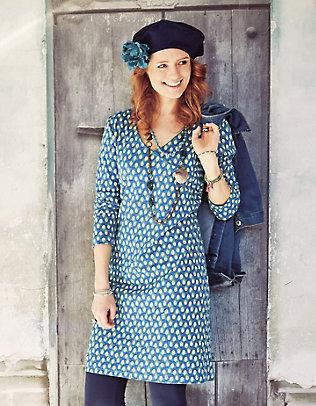 Deerberg Jersey-Kleid, langarm Geelke bedruckt