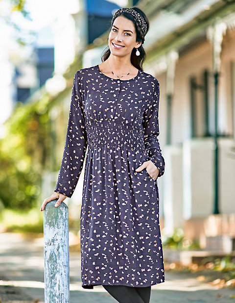 Druck-Kleid Themke