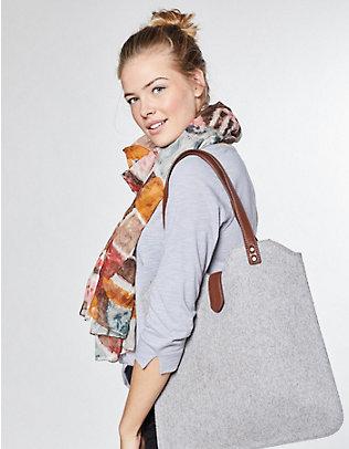 Filz-Tasche Frida mittelgrau-melange