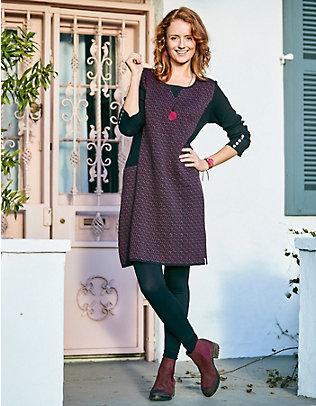 Deerberg Jacquardstrick-Kleid Oliana purpur