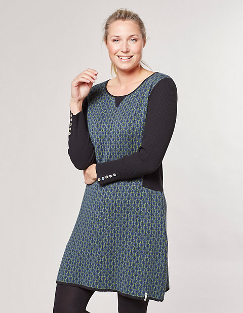 Deerberg Jacquardstrick-Kleid Oliana