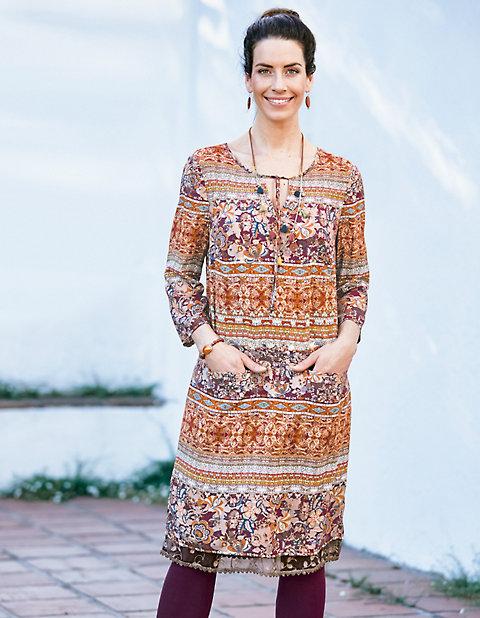 Druck-Kleid Lissi | Bekleidung > Kleider > Druckkleider | Viskose | Deerberg