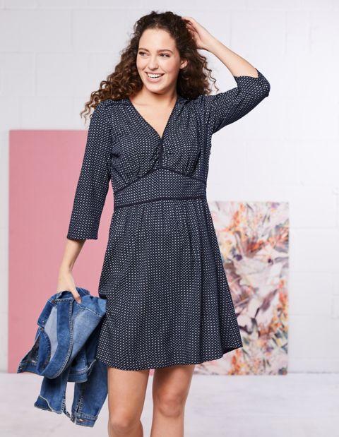 Image of Deerberg Druck-Kleid Malise, Blau