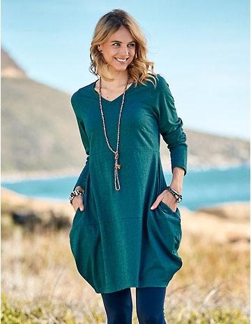 Deerberg Jersey-Kleid Nanika tiefpetrol-melange