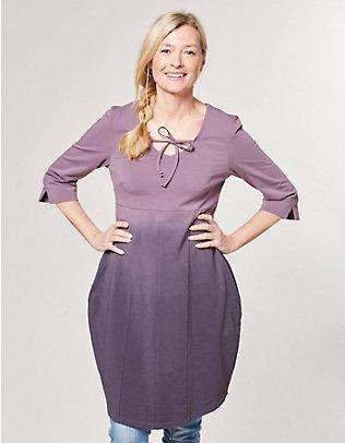 Deerberg Jersey-Kleid Saila grauviolett-pflaume