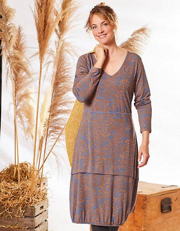 Deerberg Jersey-Kleid Ilaria bleigrau-bedruckt