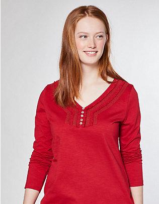 Deerberg Jersey-Shirt Anneke rot