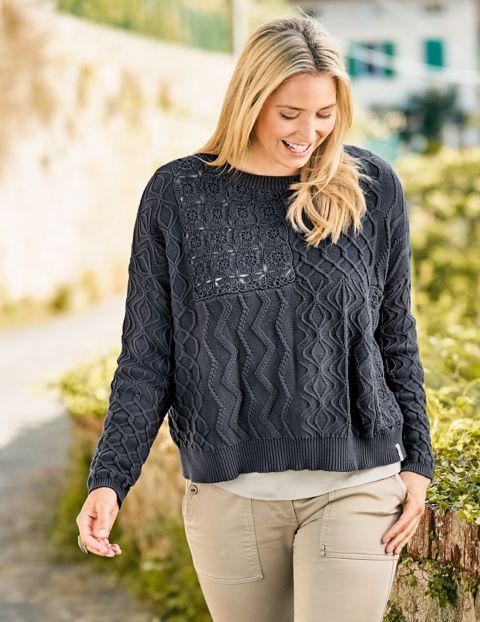Image of Deerberg Baumwoll-Pullover Grete, Grau
