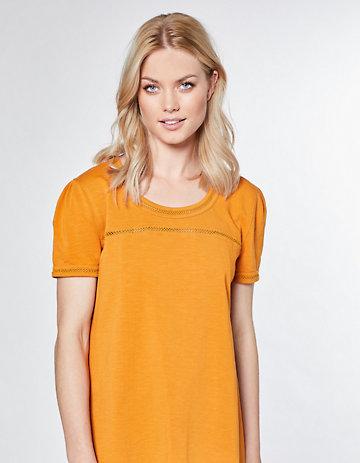 Laura Deerberg Jersey-Long-T-Shirt Imme kurkuma
