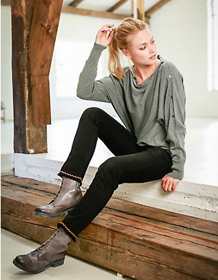 Laura Deerberg Stretch-7/8-Jeans Heidje black-black