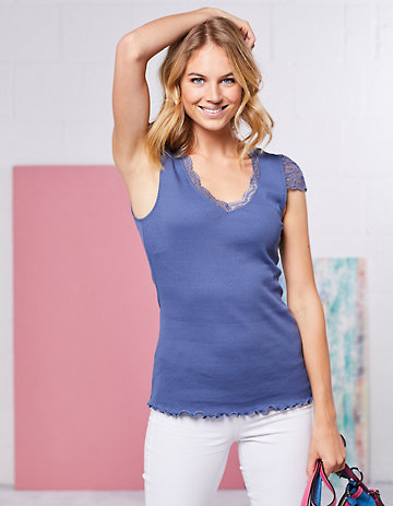 Deerberg Jersey-T-Shirt Ganya indigo