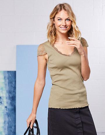 Deerberg Jersey-T-Shirt Ganya khakigrau