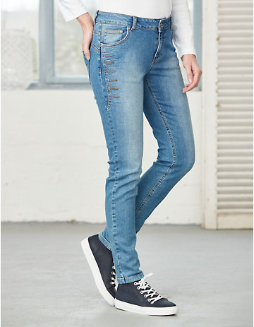 Deerberg Relaxed-Fit-Jeans Thyia mid-blue