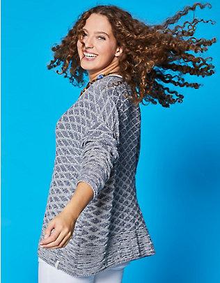 Deerberg Oversized-Pullover Danoma indigo-cremeweiß